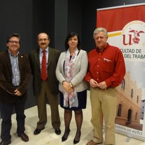 (De izq a drch) Juan Vázquez, Manuel García León, Marina Villegas y Gualberto Buela-Casal