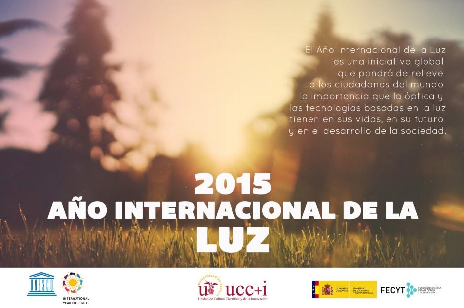 Cartel año internacional de la luz 2015