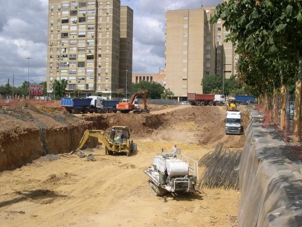 Detalle de trabajos de construcción
