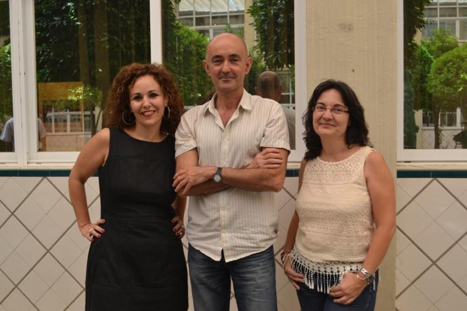 Los investigadores de la US Águeda Parra, Alfredo Oliva e Inmaculada Sánchez