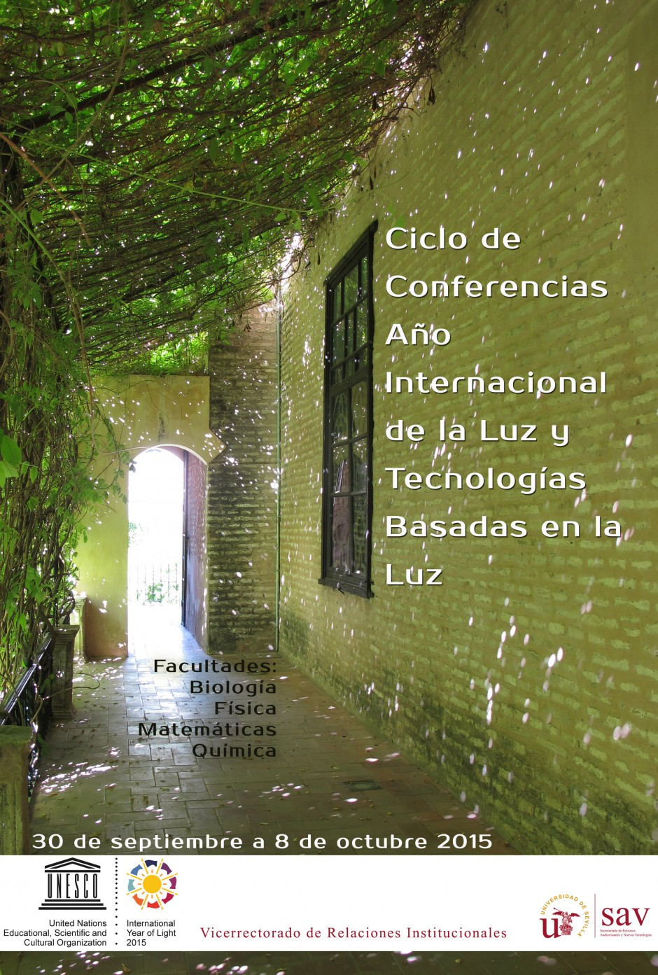 Cartel Conferencias Luz