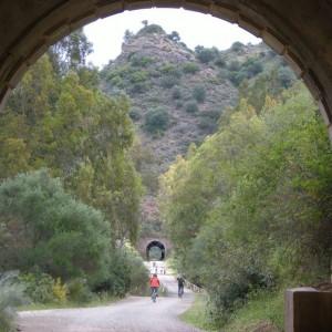 Túneles en la Vía Verde de la Sierra