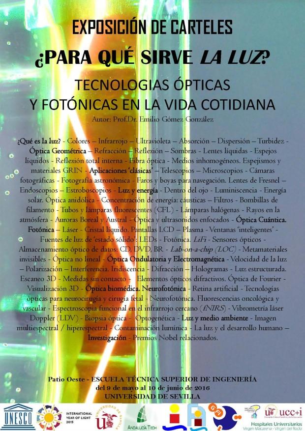 Cartel Exposición Luz en la ETSI