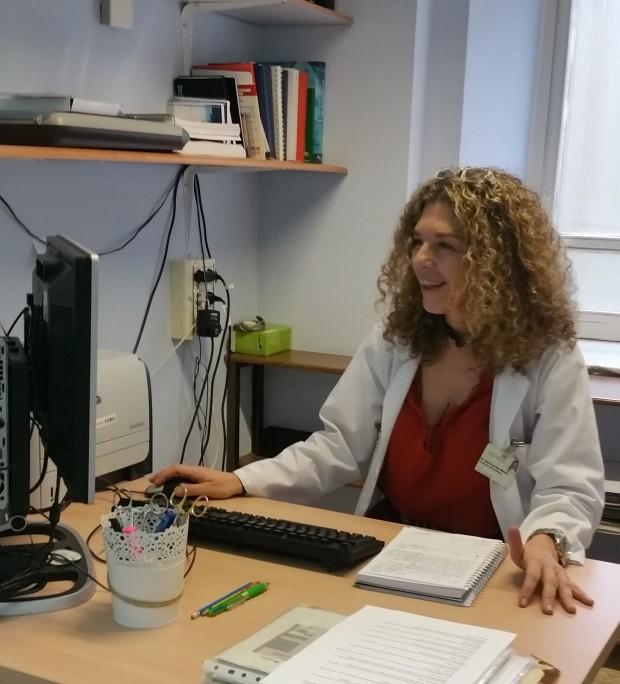La investigadora Mª Isabel González