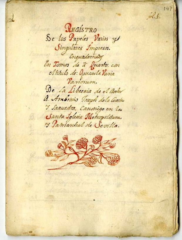 Manuscrito en la Hispanic Society of America