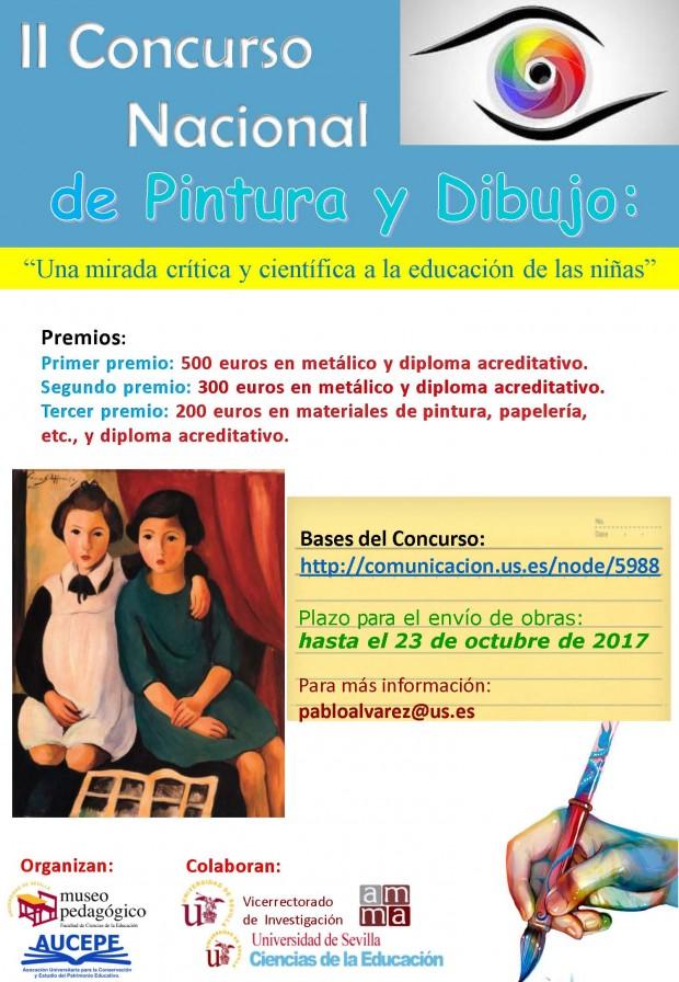 Cartel II Concurso Nacional de Pintura y Dibujo Museo Pedagogico US