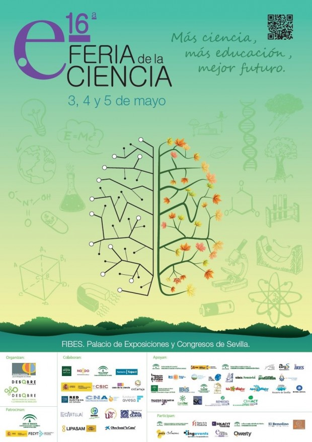 Cartel XVI Feria de la Ciencia de Sevilla