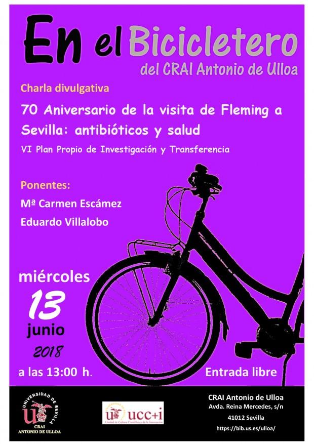 Cartel 70º Aniversario Fleming en Sevilla