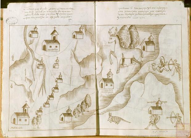 Mapa procedente del Ministerio de Educación, Cultura y Deporte. Archivo General de Indias