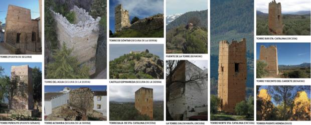 Torres almohades en la Sierra de Segura