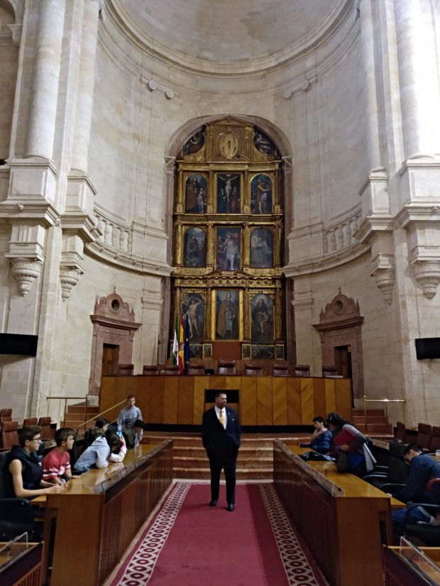 Visita al Parlamemto de Andalucía